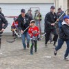 Sticks on the pavement, Wolverines versus local kids