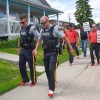 Close to 50 men donned bright red high heels and walked a few blocks in support of the Wellspring Family Resource and Crisis Centre